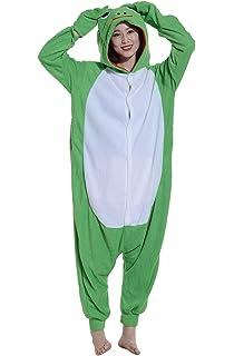 2c0512891426 Pajamas Onesie Adult Frog Cartoon Animal Cosplay Sleepsuit for Unisex