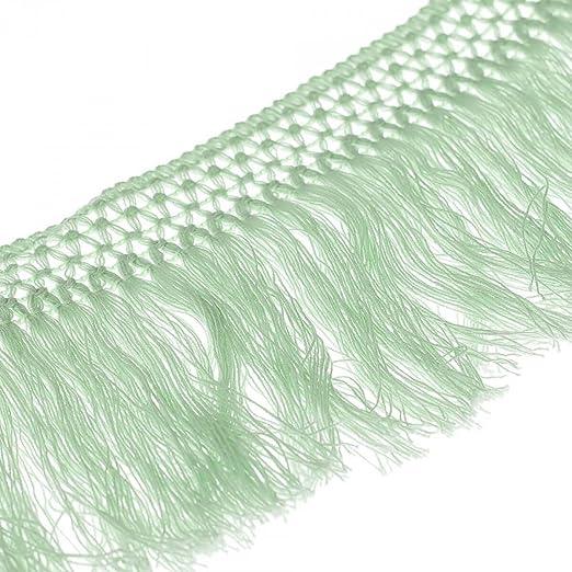 Cinta flecos algodón 10 cm – verde – anchura 100 mmmm: Amazon.es ...