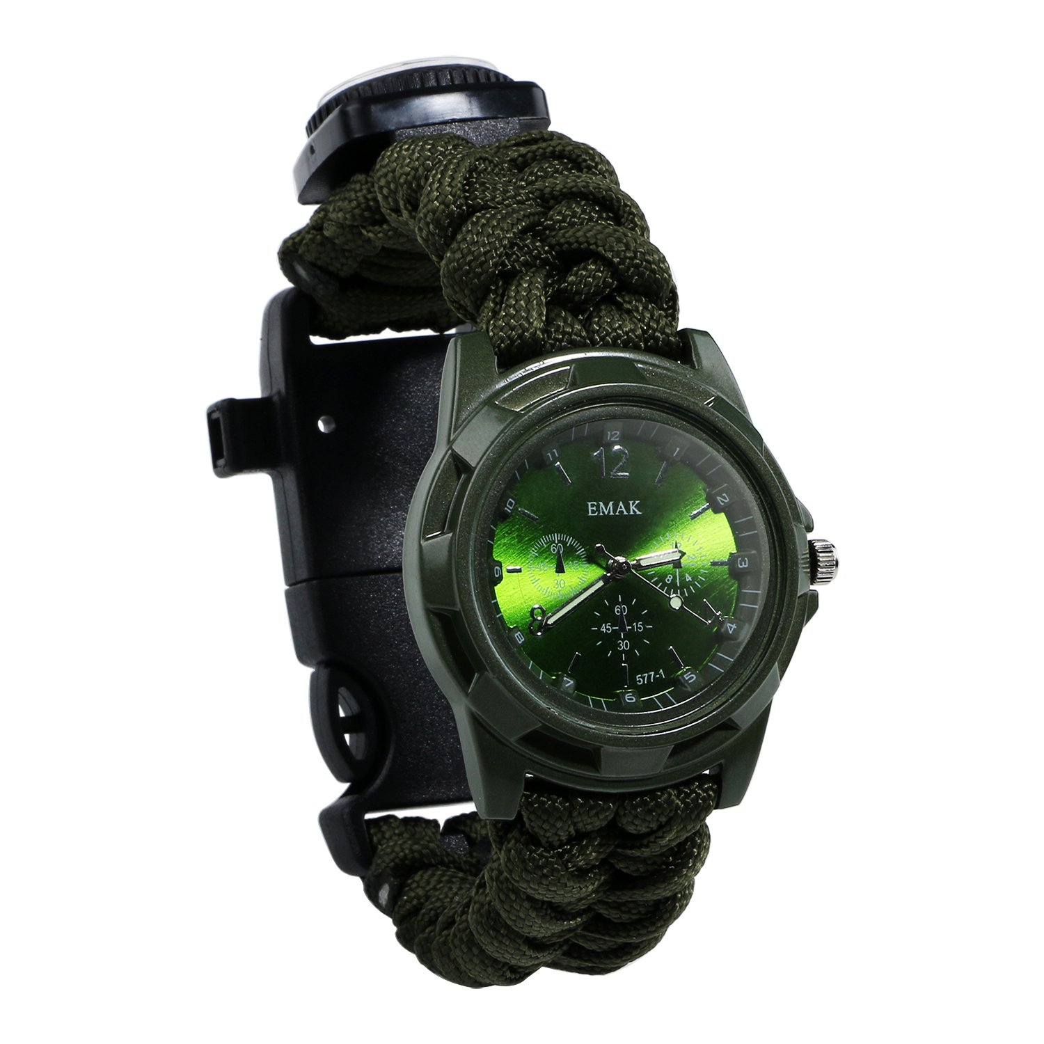 SevenMye Paracord Survival Bracelet Compass,Whistle,Fire Starter,Survival Gear Kit with Embedded Compass,Hiking Gear
