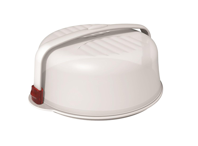 Piatto Torta Biesse 32 Trendy Bianco/Rosso 0992 Ecoplast