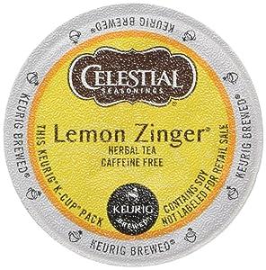 Celestial Seasonings Lemon Zinger Herbal Tea, K-Cup Portion Pack for Keurig K-Cup Brewers, 24-Count (Pack of 2)