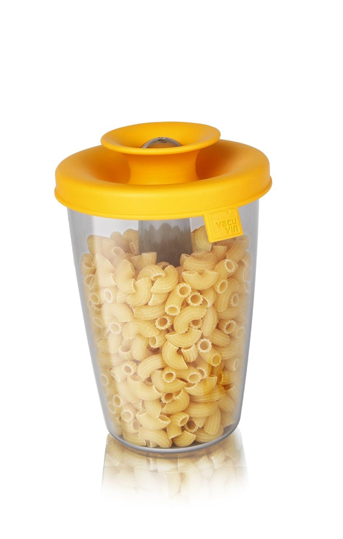 Tomorrows Kitchen  2831960 Popsome Distributeur pour riz//sucre en Plastique Jaune 30 x 18 x 18 cm