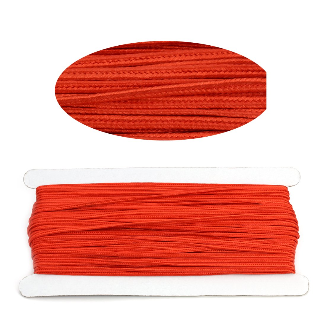 Linsoir Beads 3MM Soutache Braided Cord String Beading Sewing Quilting Trimming Red Color 34 Yards//31 Meters
