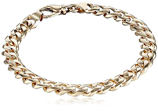menu0027s 14k yellow gold 84mm fancy cuban bracelet