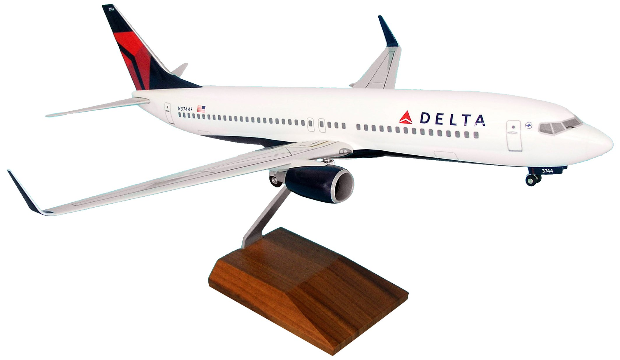 Daron Skymarks Delta 737-800 Model Kit with Gear and Wood Stand (1/100 Scale)