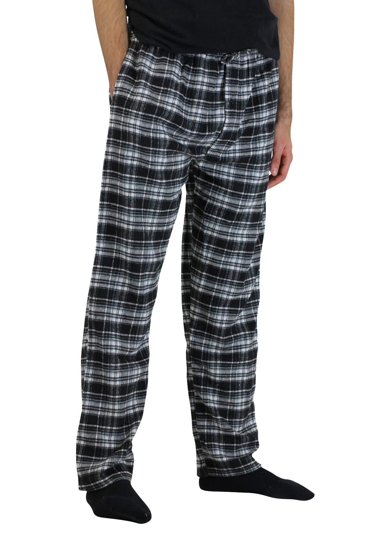 Real Essentials 3 Pack:Men's Cotton Super Soft Flannel Plaid Pajama Pants/Lounge Bottoms,Set 4-L by Real Essentials (Image #3)