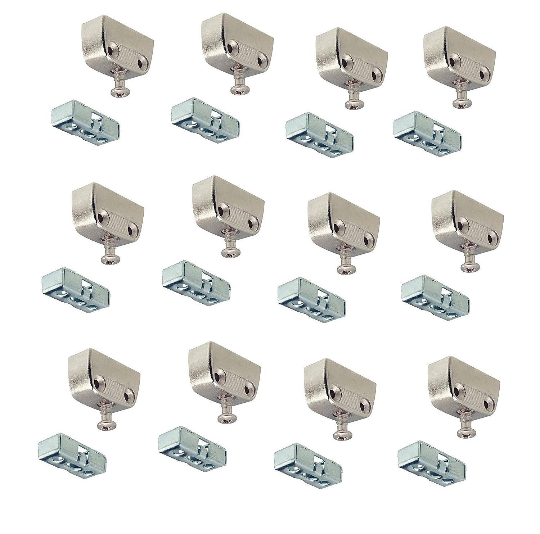Gedotec Verbindungsbeschlag Trapez-Verbinder Korpusverbinder RV Stahl | mit Rastfunktion | verstä rkte Metall Schrankverbinder | 4 Set GedoTec®