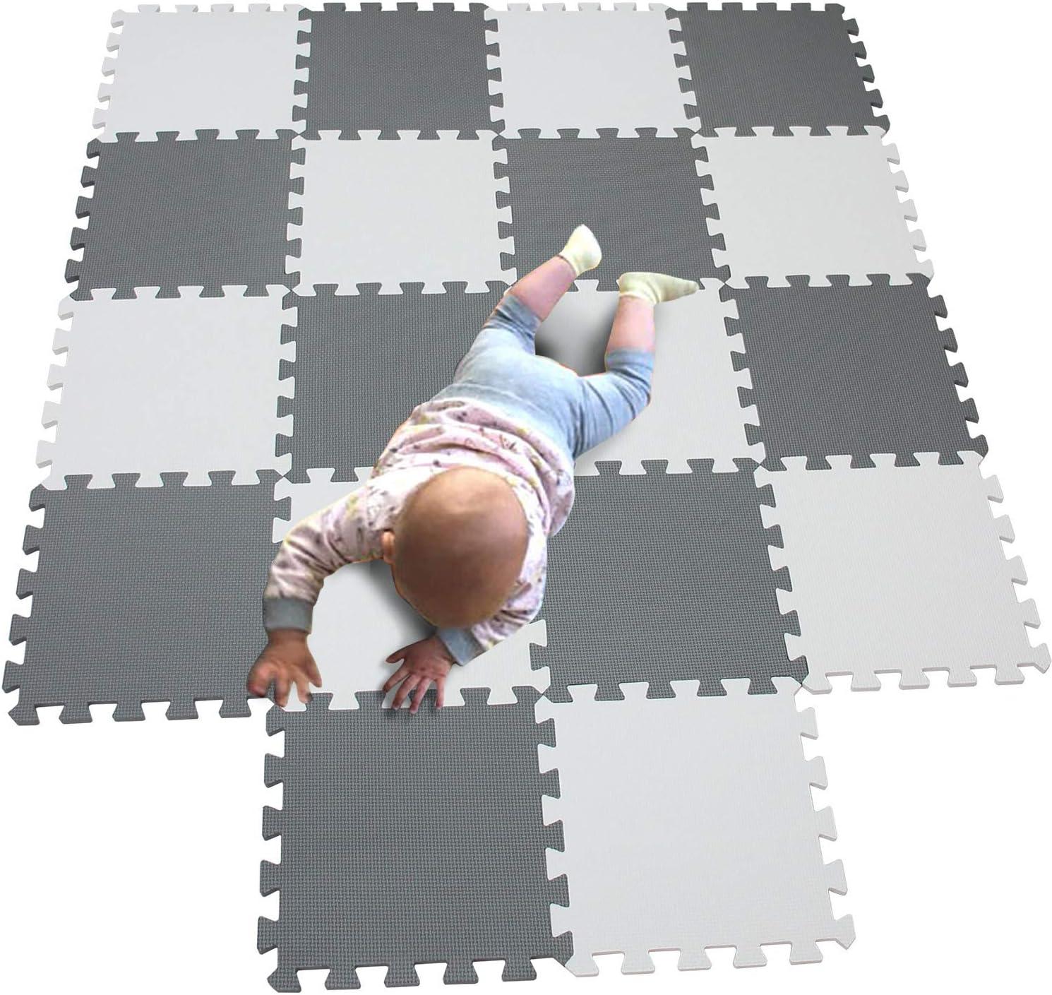 Pink EVA Foam Interlocking Tiles Baby Kids Crawling Carpet Rug Play Mat Non-Toxic Soft Puzzle Mat Exercise Mat for Exercise Sport Yoga Gym