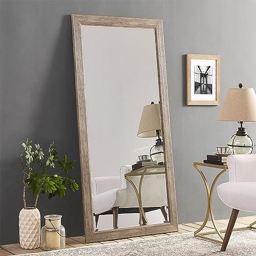 Naomi Home Rustic Floor Mirror Natural/66 x 32″