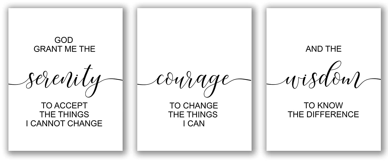 Inspirational 8x10 In Art Print The Serenity Prayer
