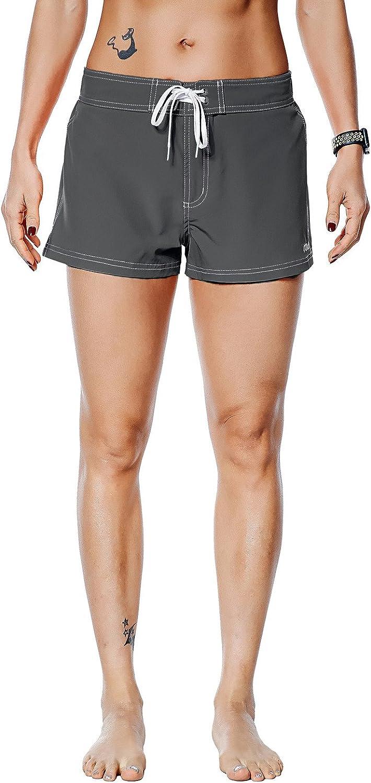 Nonwe Womens Beach Shorts Quick Dry Soild Lightweight
