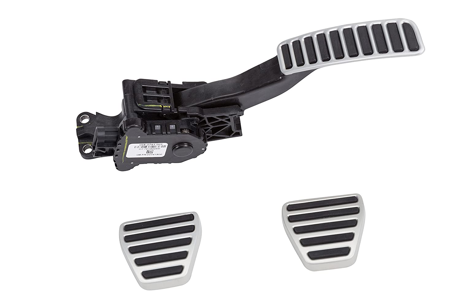 GM Accessories 22826305 Manual Transmission Pedal Cover Package in Stainless Steel and Black General Motors