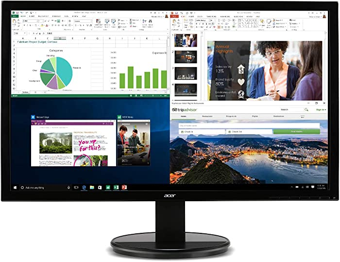 "Acer K202HQL Abi 19.5"" HD Monitor (HDMI & VGA port), Black, 19.5 Inch"