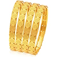 Sukkhi Wedding Jewellery Bangle for Women (Golden) (32083BGLDPP400_2.6)