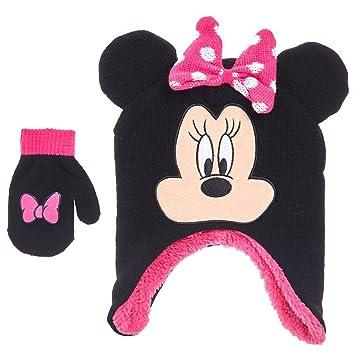b907cd53206 Amazon.com   Minnie Mouse Baby Girls Toddler Winter Hat   Mitten Set ...
