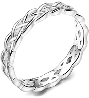 Kind-Hearted Hope Ring Solid 925 Sterling Silver Wedding Band Jewellery Handmade Uk Size R Factories And Mines Precious Metal Without Stones