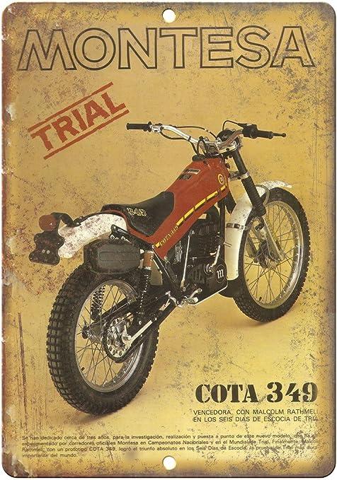 Montesa Trail Bike Cota 349 Vintage Ad 12 X 9 Retro Look Metal Letrero A367 Home Kitchen