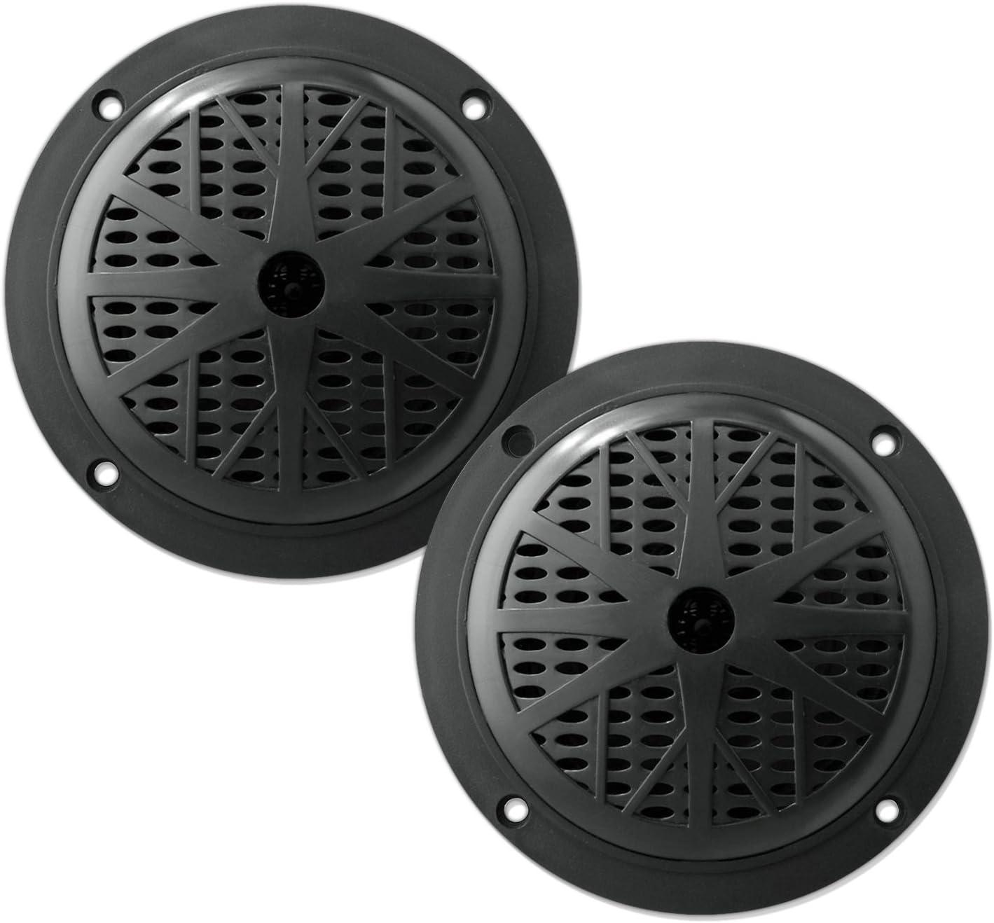 5.25 Inch Dual Marine Speakers - 2 Way Waterproof and Weather Resistant