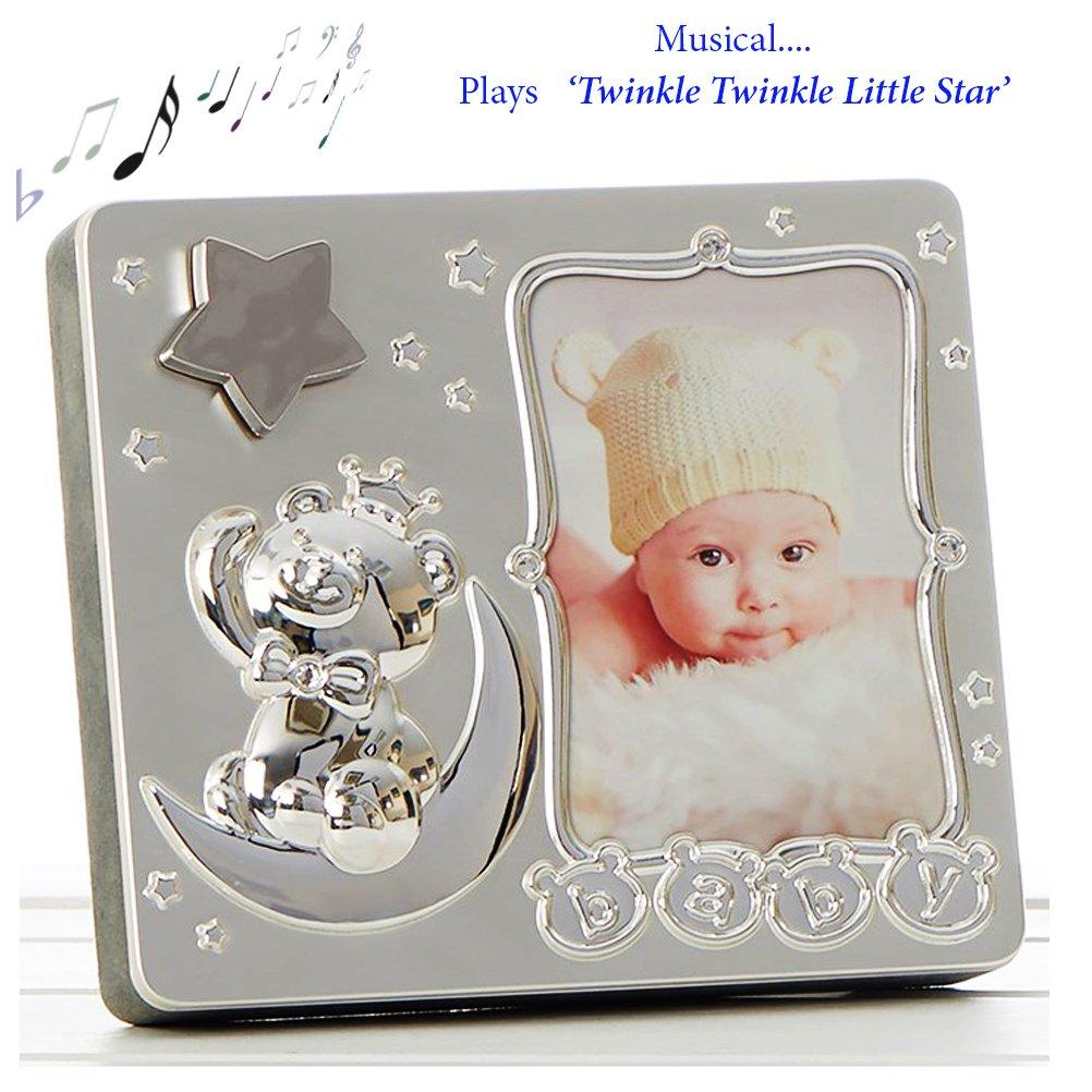 Baby Star Musical, versilberte Bilderrahmen ~ spielt Twinkle Twinkle ...