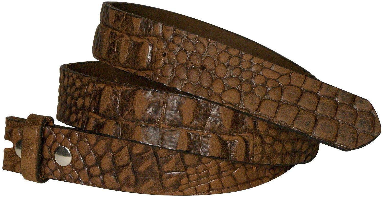 Fronhofer Ceinture échangeable, sangle de rechange de 3 cm effet croco,  sangle sans boucle, lanière en cuir de vachette véritable 17824  Amazon.fr   ... 45600bbdfdd
