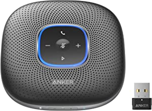 Anker PowerConf+ Bluetooth Speakerphone with Bluetooth Dongle, 6 Mics, Enhanced Voice Pickup, 24H Call Time, Bluetooth 5, USB C, Conference Speaker, Compatible with Leading Platforms, for Home Office