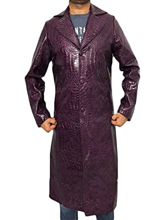 Suicide Squad Joker Halloween Costume.Bnh The Joker Suicide Squad Jared Leto Purple Coat Halloween Costume