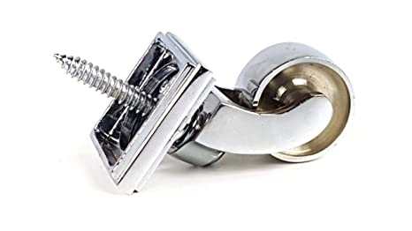Cromo & anillo 32 mm tornillo en rueda de ruedas para muebles, camas, sofás