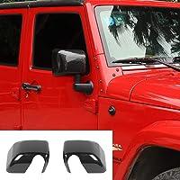 JeCar Cubierta de espejos laterales de fibra de carbono para Jeep Wrangler 2007-2018 JK JKU