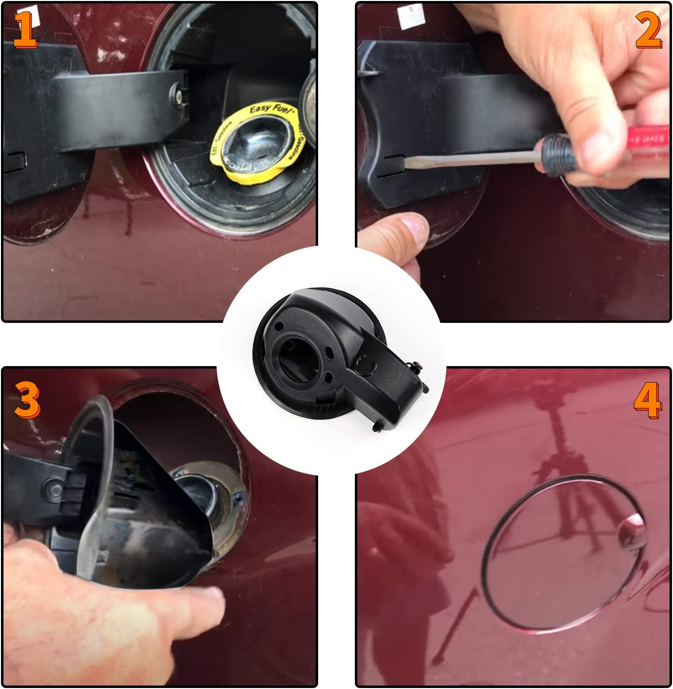 Funmit Fuel Filler Door Housing Pocket Assembly Gas Tank Cap Door Hinge Exact for Ford Vehicles Model F150 Style Side Beds Year 2009-2014 Replaces 9L3Z9927936B
