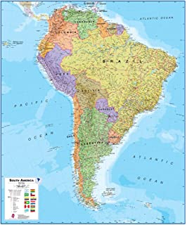 Amazoncom Maps International North America Wall Map Laminated - Maps america