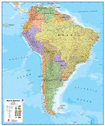 Amazon Com Maps International South America Wall Map Paper Toys
