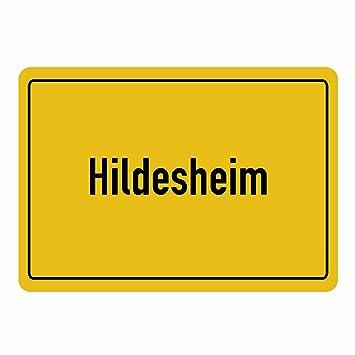 Multifanshop Mousepad Ortsschild Hildesheim Schwarz Amazon De