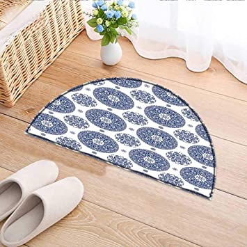 Amazon Com Semicircle Area Rug French Country Style Floral Circular