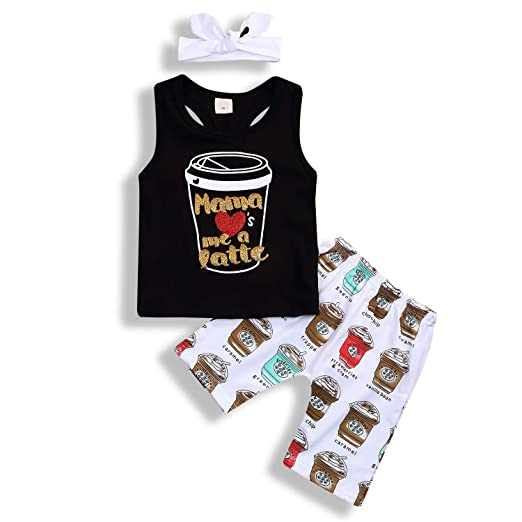 fffe624cd112 Baby Boy Girl T-Shirt Clothes Monster Cartoon and Funny Letter Print Summer  Cotton Sleeveless