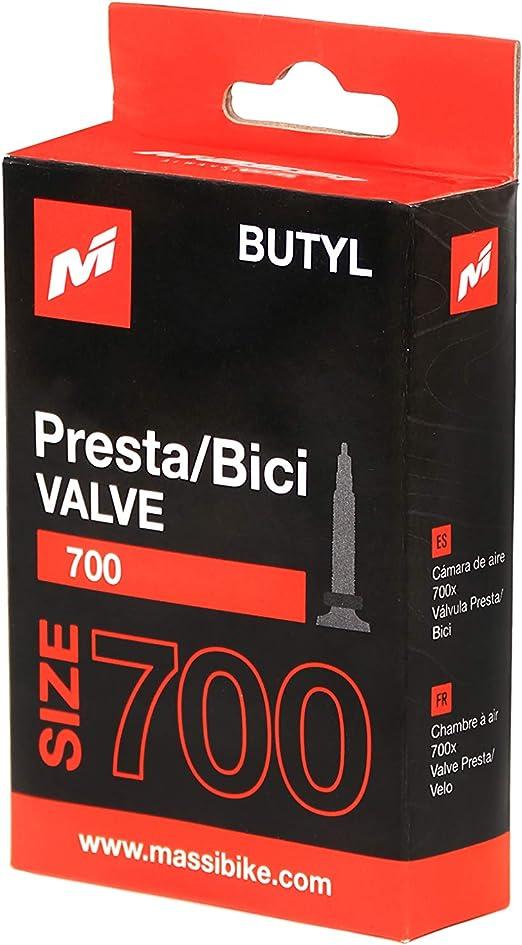 Massi 700X18-20-23-25 Superlight V.Bici Camara, Unisex Adulto, Negro, 700 x 18-20-23-25: Amazon.es: Deportes y aire libre