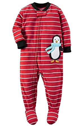 f1fa32bf35b0 Amazon.com  Carter s Boys One Piece Penguin Fleece Footed Bodysuit ...