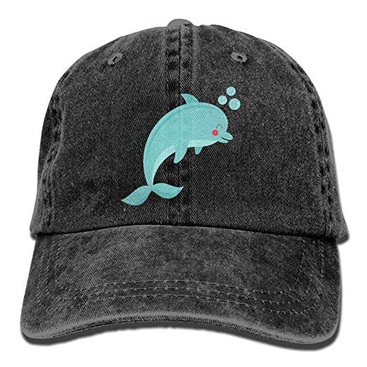 6efc2d4f4340a Image Unavailable. Image not available for. Color  Vintage Adult Sport  Baseball Cap Purple Dolphin Adjustable Denim ...