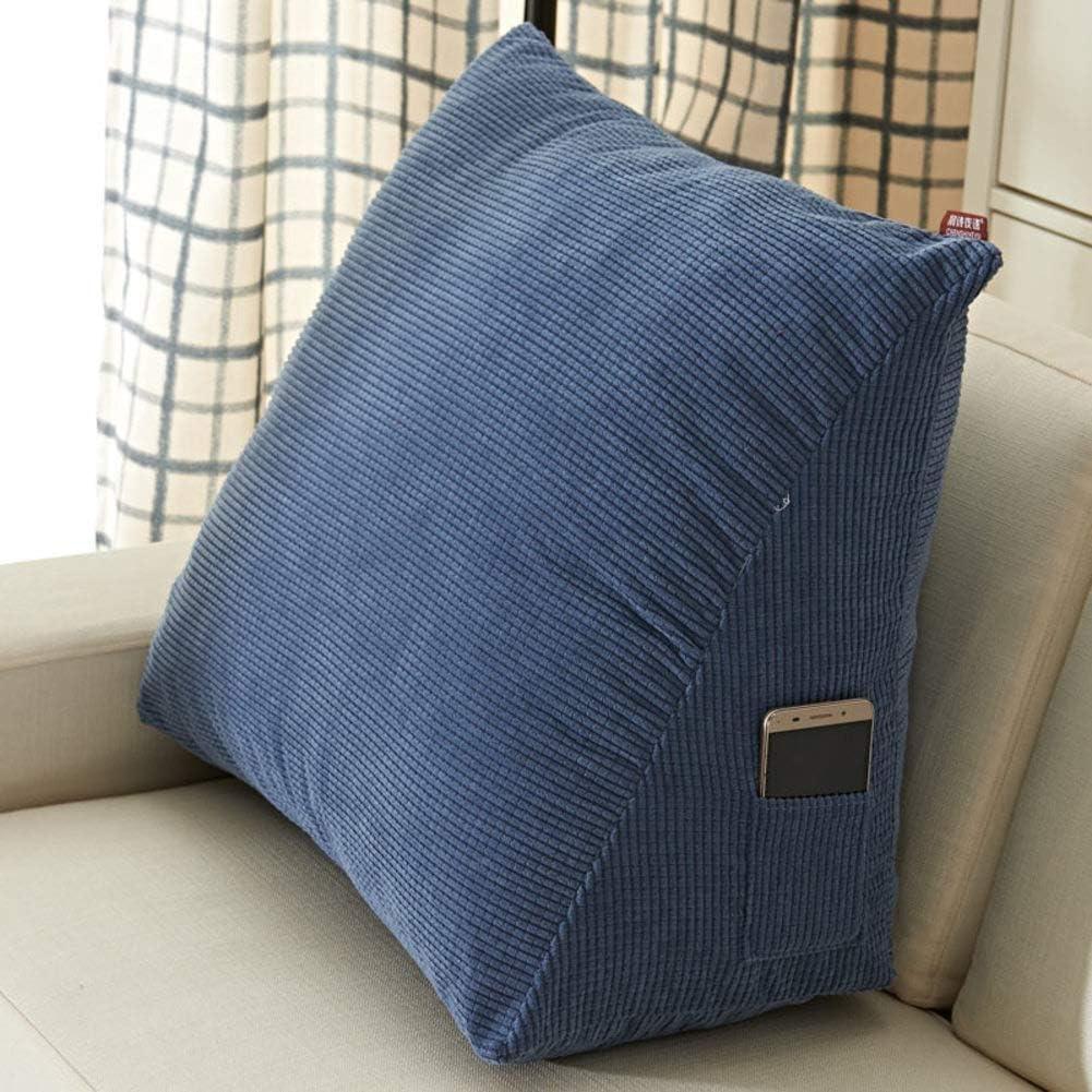 fgdsa Cushion Triangle,Bedside Back Cushions,Detachable Washable Triangle Cushion,Sofa Office Chair Lumbar Pad Soft Backrest A 40x30x20cm 16x12x8inch