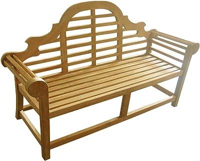 D-Art Collection Teak Lutyen 3-Seater Bench