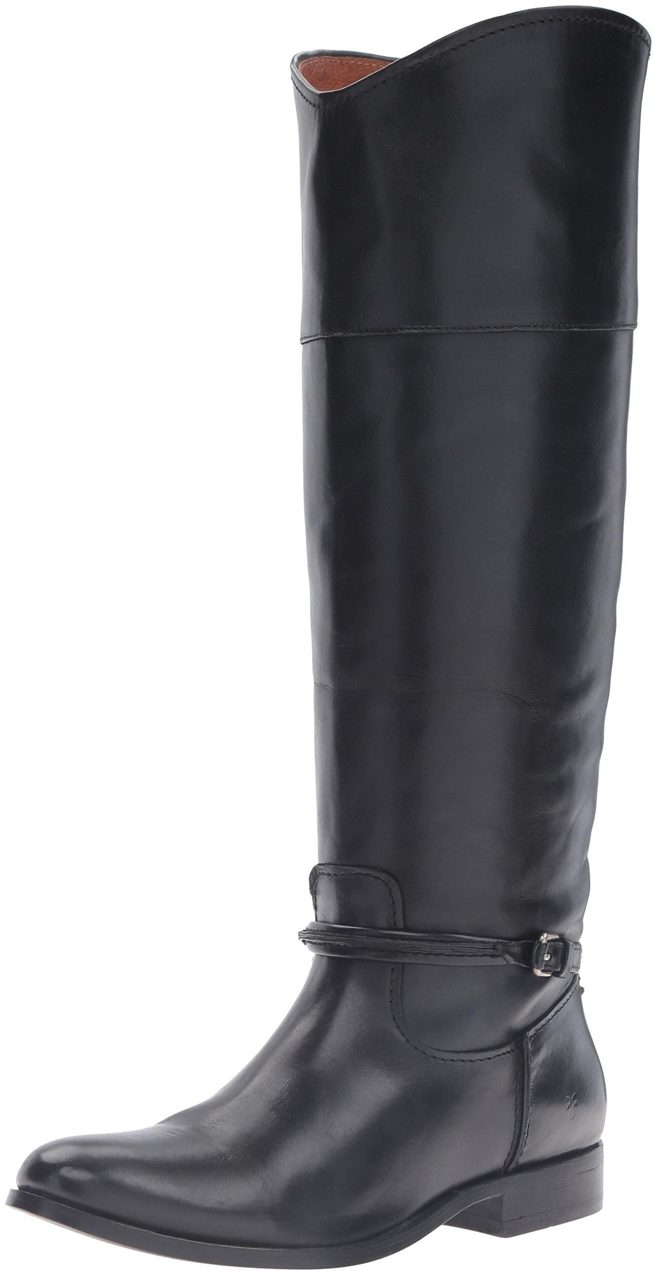 FRYE Women's Melissa Seam Tall Riding Boot, Black, 7.5 M US