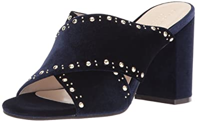 Cole Haan Womens Gabby Stud Heeled Sandal Blue Velvet Size 55