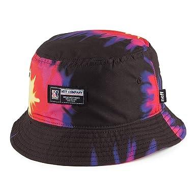7997a0b7d Neff Hats Tie Dye Bucket Hat - Black-Pink 1-Size: Amazon.co.uk: Clothing