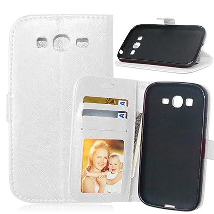 FUBAODA Galaxy Grand Neo Plus i9060 Carcasa+Cable Libre, Funda pistolera,Cover Cuero PU Billetera Case[Soporte de la función] Case Piel para Samsung ...