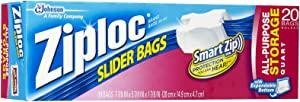 Ziploc 20 Count QT Slider Stor Bag