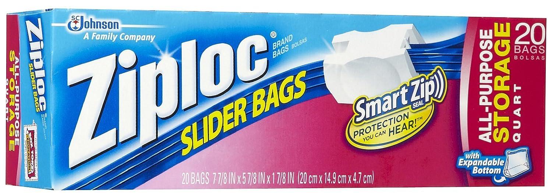 Ziploc 20 Count QT Slider Stor Bag