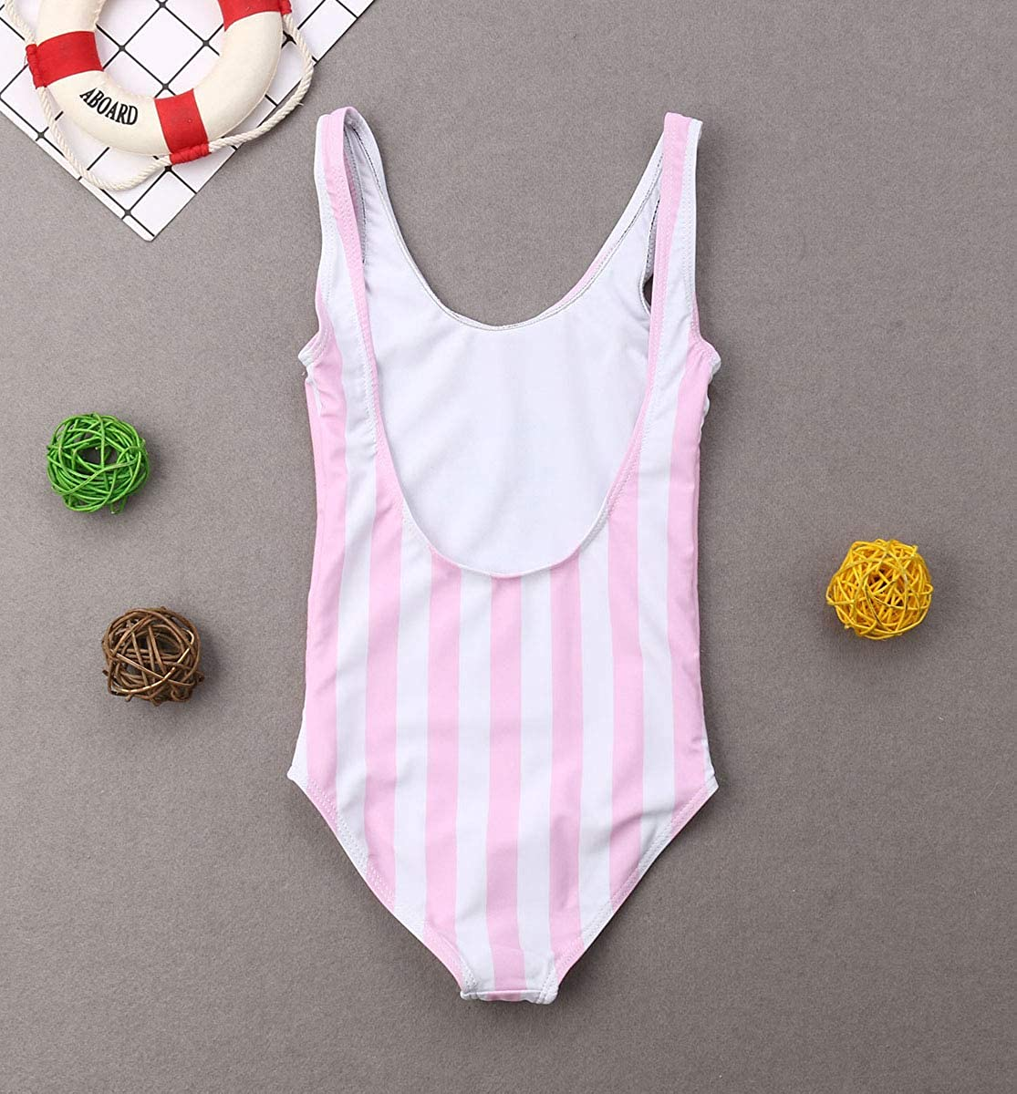 Family Matching Mother Daughter Striped Pineapple Print Monokini Swimsuit Mommy and Me One Piece Beachwear