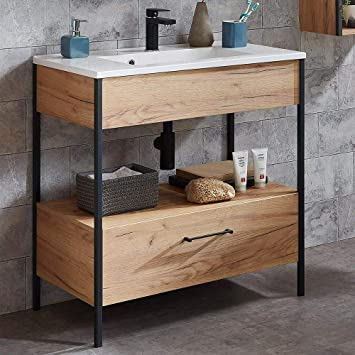 Lomadox Badezimmer Waschtisch Mit Unterschrank Im Industrial Design
