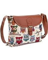 Nawoshow Fashion Women Lady Satchel Many Owl Shoulder Bag Cross-Body Bag Messenger Bag