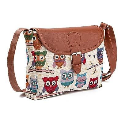 Owl Crossbody Bags Fashion Messenger Bag Cute Shoulder Purse for Women Girls 96a984db55