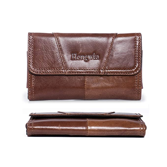 ee7d85518ec2 Amazon.com: Hengwin Leather Holster Pouch Compatible for iPhone XR 8 ...